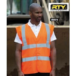 Gilet haute visibilite RTY - Orange