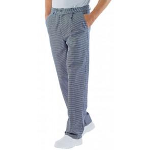 """Pantalon de cuisine Isacco Cuoco 100% coton motif """"pied de poule"""""""