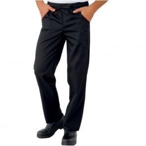 Pantalon de cuisine noir Isacco Pantalaccio