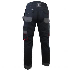 Pantalon de travail imperméable en tissu canvas LMA Minerain Noir 1