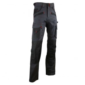 Pantalon de travail bicolore avec poches genouilléres ARGILE LMA