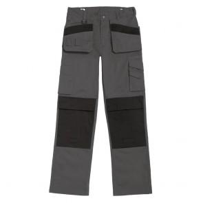 Pantalon de travail multipoches Performance Pro B&C Pro - Gris