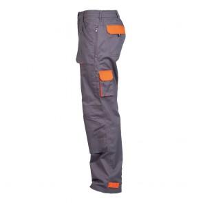 Pantalon de travail Multipoches Portwest Texo Action gris orange profil