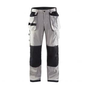 Pantalon de travail X1900 artisan cordura Blaklader Nyco Gris clair / Noir