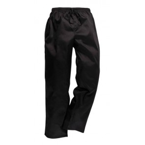 Pantalon de cuisine Portwest Drawstings noir