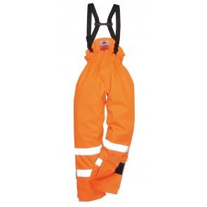 Pantalon haute visibilité antistatique Portwest Bizflame Rain Orange
