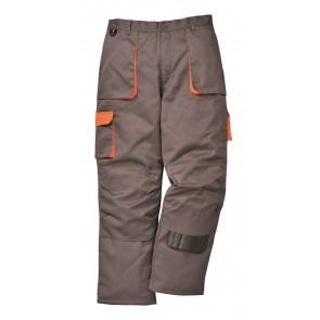 Pantalon de travail Multipoches Matelassé Portwest Texo Contrast gris poeches oranges