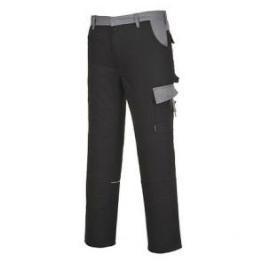 Pantalon de travail Multipoches Portwest Munich noir poches grises