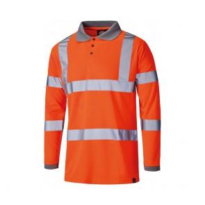 Polo de sécurité haute-visibilité manches longues Dickies GO/RT Orange fluo