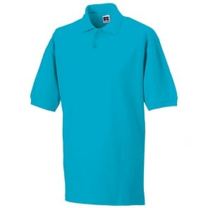 Polo Homme Russell Maille Piquée turquoise