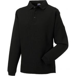 Sweat-shirt de travail col polo Russell - noir