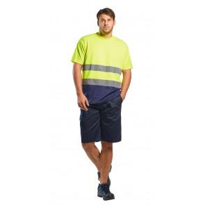 Tee shirt Haute Visibilité Portwest Coton Bicolore