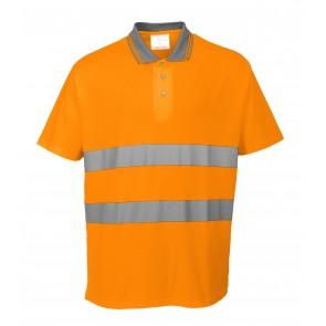 Polo confort coton Portwest - Orange