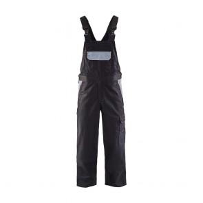 Cotte à bretelles industrie polycoton Blaklader Noir poches grises avant