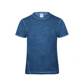 Tee-shirt denim homme Plug In B&C Pro bleu