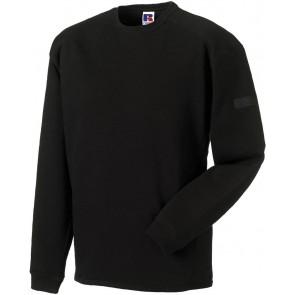 Sweat-shirt de travail col ras du cou Russell - noir