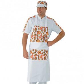 Tablier de cuisine à bavette Pizzaiolo Isacco Daytona Pizza 100% coton