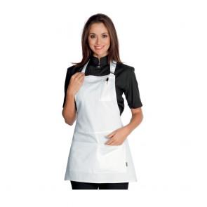 Tablier de service Isacco Piccadilly Blanc 100% coton