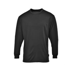T-shirt de travail manches longues thermique Portwest baselayer Noir