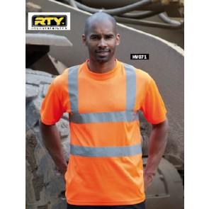 T-shirt haute visibilite RTY - Orange fluo