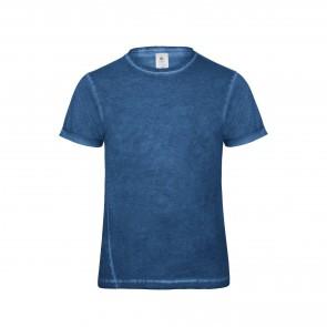 Tee-shirt denim homme Plug In B&C Pro bleu