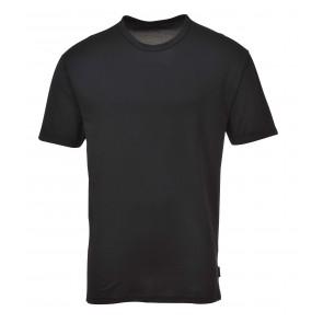 Tee-Shirt thermique manches courtes Portwest - Noir