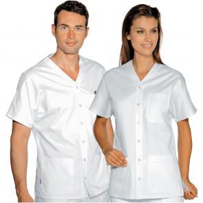 Tunique blanche médical unisexe Isacco Cancun 100% coton