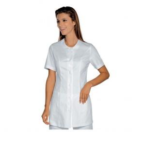 Tunique médicale femme Isacco Lampedusa blanche manches courtes