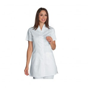 Tunique médical femme Isacco Antibe blanche 100% coton