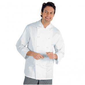 Veste de cuisine blanche Isacco Livorno 100% coton