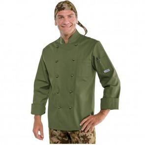 Veste de cuisine Vert Militaire Isacco