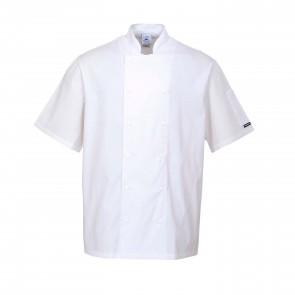 Veste de cuisine blanche Portwest Aberdeen 100% coton