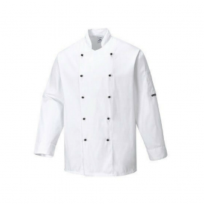 Veste de cuisine Portwest Somerset blanche