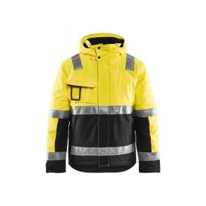 Veste haute visibilité hiver Stretch Blaklader noir jaune dos