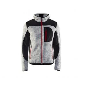 Veste tricotée à capuche Blaklader gris chiné