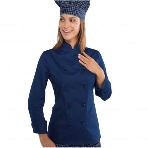 Veste de cuisine femme Isacco Bleue Lady Chef