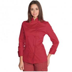 Veste de cuisine femme Rouge Isacco Rosso