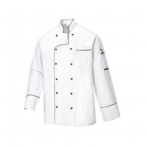 Veste de cuisine Portwest Cambridge 100% coton