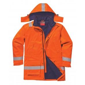Parka hiver fr antistatique Portwest Bizflame Orange