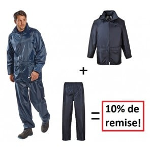 Pack pluie Portwest Veste + Pantalon Classic
