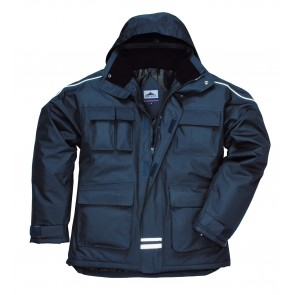 Parka imperméable multipoches Portwest Rip Stop bleu