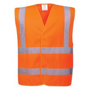 Gilet haute visibilité baudrier double ceinture Portwest Vest-Port Orange