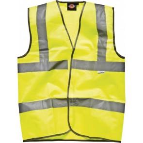 Gilet de sécurité route Dickies-Yellow