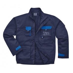 Blouson de travail matelassé Portwest Contrast Texo marine poches bleues