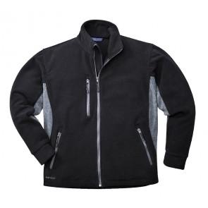 Blouson polaire Portwest Bicolore Texo noire poches grises