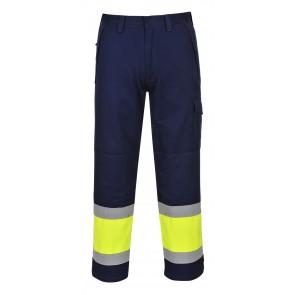 Pantalon Portwest  hi-vis modaflame Jaune/Marine