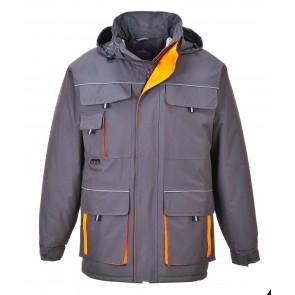 Parka Portwest Contrast Texo gris orange
