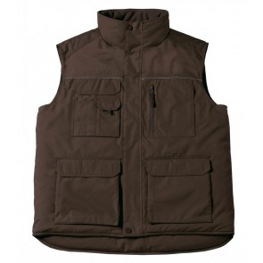 Gilet bodywarmer Expert Pro multipoches B&C Pro-Brown-S