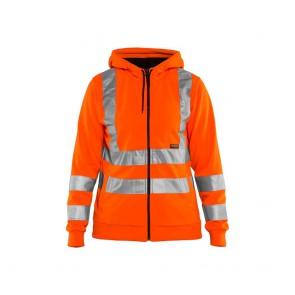 Sweat zippé à capuche Haute visibilité Femme Blaklader orange