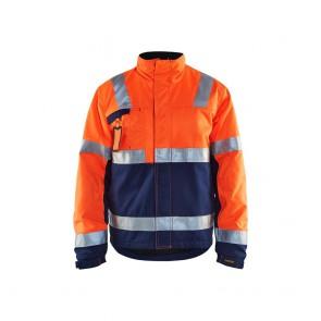 Veste hiver haute visibilité Blaklader orange marine